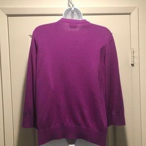 kate spade Sweaters - Gently Loved Purple Jewel Neck Kate Spade Sweater